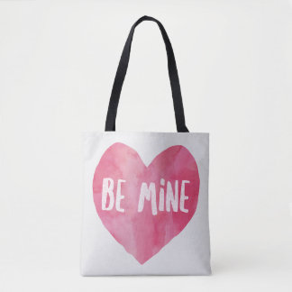Pink Be Mine Heart Tote Bag