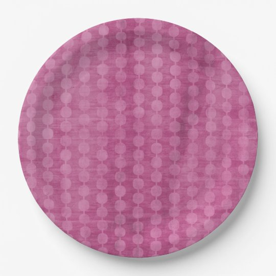 Pink Bead 9 Inch Paper Plate