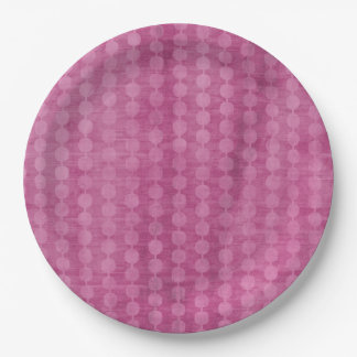 Pink Bead Paper Plate