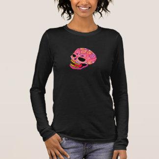Pink Beaded Sugar Skull Women's T-Shirt