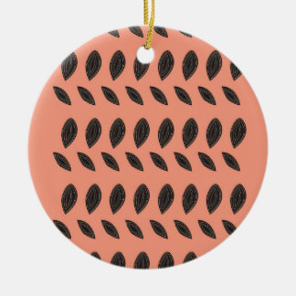 PINK Beans design elements Ceramic Ornament