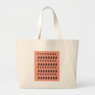PINK Beans design elements Large Tote Bag