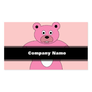 Pink Bear Business Cards