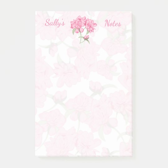 Pink Beauties 4x6 Post-it Notes
