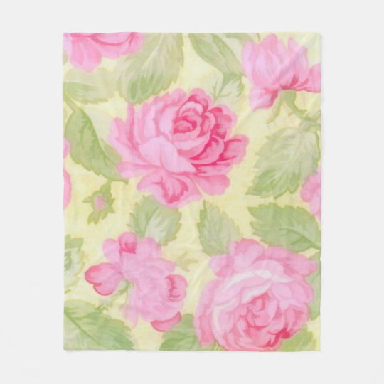 Pink Beauties Fleece Blanket