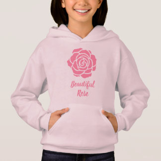Pink Beautiful Rose Hoodie (Child)