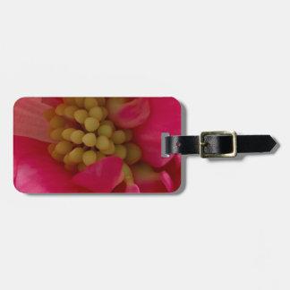 Pink Begonia Stamen Macro Luggage Tag