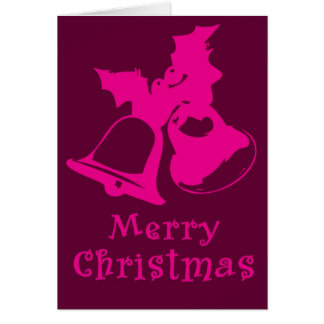 Pink Bells Christmas Card