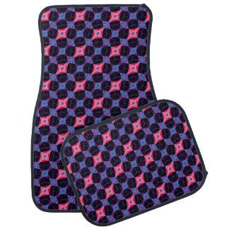 Pink Beveled Diamond Cube Lattice Geometric Mosaic Car Mat