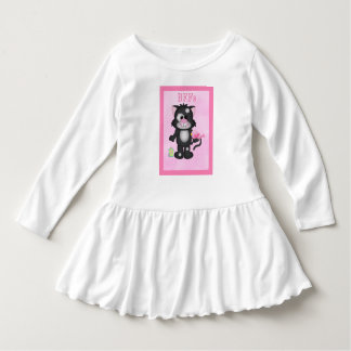 Pink BFF Cat and Bird Best Friends Dress