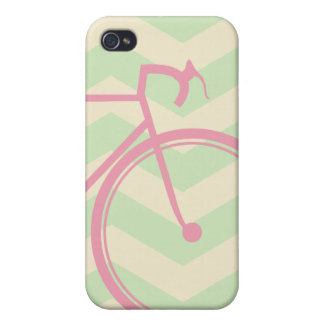 Pink bicycle Chevron iPhone 4/4S Cover