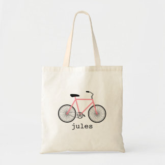 Pink Bicycle Personalized Bag
