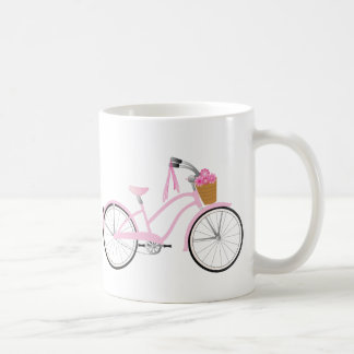 Pink Bicycle with Streamers Coffee Mug