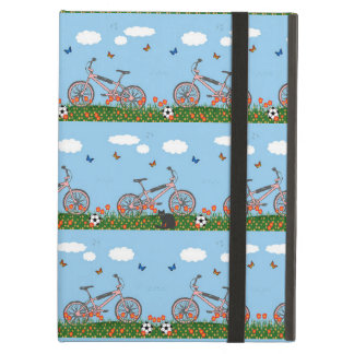 Pink bicycles pattern case for iPad air