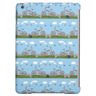 Pink bicycles pattern iPad air cases