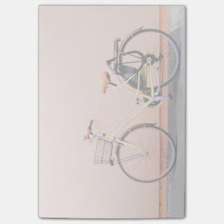 Pink Bike Basket Bicycle Two Wheel Post-it Notes