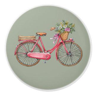 Pink Bike Knobs Ceramic Knob