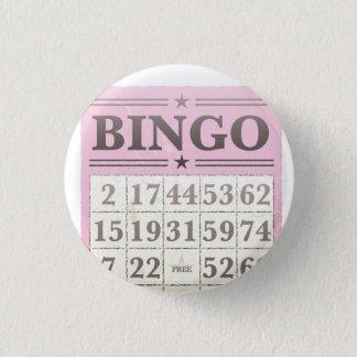 Pink Bingo Score Card 1 Inch Round Button