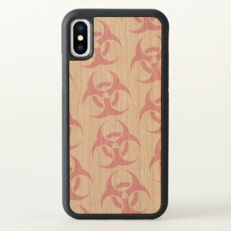 Pink Biohazard iPhone X Case