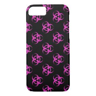 Pink Biohazard Symbol Pattern iPhone 7 Case