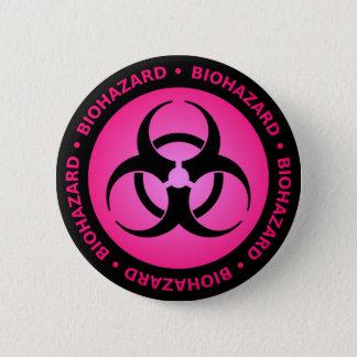 Pink Biohazard Warning Button