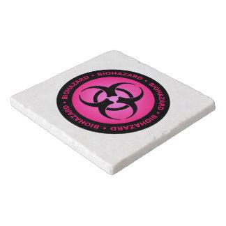 Pink Biohazard Warning Trivet
