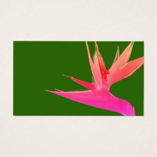 Pink Bird of Paradise Business Card