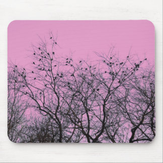 Pink Birds and Trees Mousepad