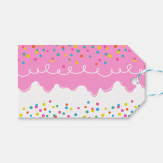 Pink Birthday Cake Frosting Pack Of Gift Tags