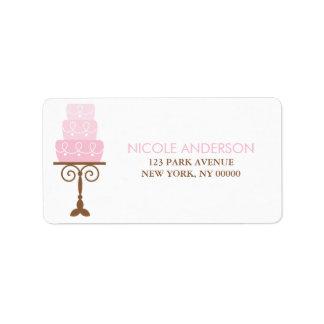 Pink Birthday Cake Label