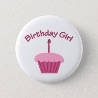 Pink Birthday Cupcake 2 Inch Round Button