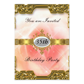 Pink Birthday Party Glamour Hot Invitation 2