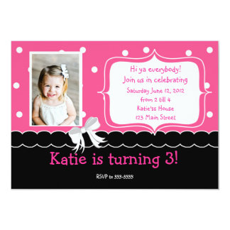 Pink Birthday Party invitation