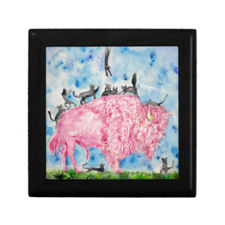 pink bison and black cats gift box