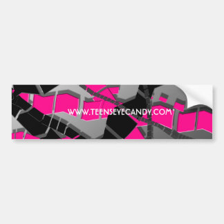 Pink Black Abstract Bumper Sticker