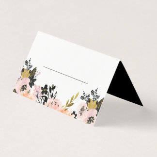 Pink, Black and Gold Rehearsal Dinner Place Card