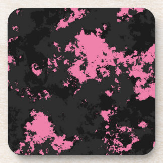 Pink black and gray SPlatter Coaster