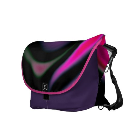 Pink black and Purple abstract art Messenger Bag