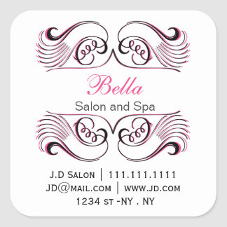 pink black and white Chic Business stickers