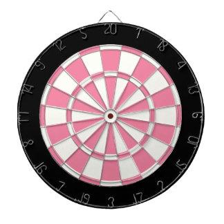 Pink Black And White Dartboard