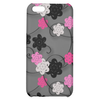 Pink Black and White Flower Pern iPhone 5C Cover