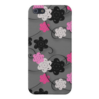 Pink Black and White Flower Pern Covers For iPhone 5