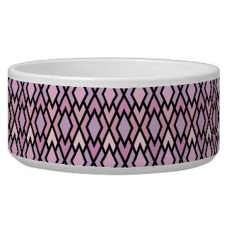 Pink & Black Argyle Pet Water Bowl