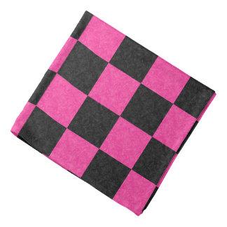 Pink Black Checkerboard Kerchiefs