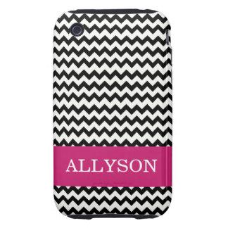 Pink & Black Chevron Case Mate iPhone 3 Tough