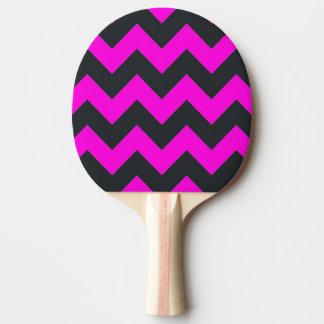 Pink black chevron pattern ping pong paddle