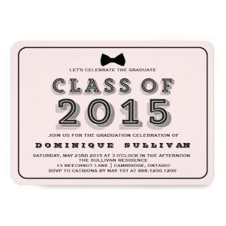 Pink & Black | Class of 2015 Graduation Invitation
