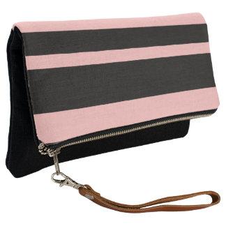 Pink & Black Clutch