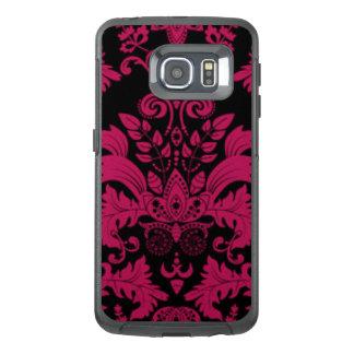 Pink & Black Damask Pattern Print Design OtterBox Samsung Galaxy S6 Edge Case
