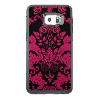 Pink & Black Damask Pattern Print Design OtterBox Samsung Galaxy S6 Edge Plus Case